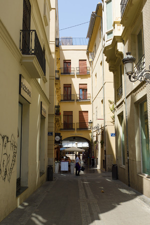 Valencia, Spain - August 07, 2018: Valencia is one of the largest and most lively cities in Spain. It is located this city in the south-eastern part of Spain, on the Mediterranean coast. Editorial