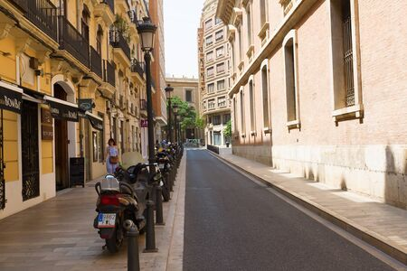 Valencia, Spain - August 07, 2018: Valencia is one of the largest and most lively cities in Spain. It is located this city in the south-eastern part of Spain, on the Mediterranean coast. 報道画像