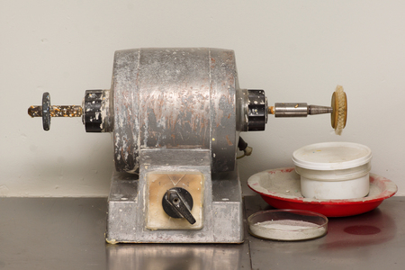 old motor for polishing dentures with nozzles