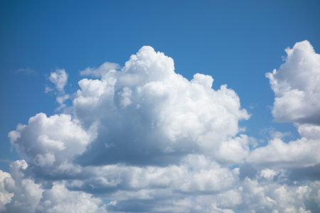 blue sky with flying white light clouds Imagens