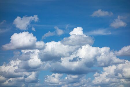 blue sky with flying white light clouds 스톡 콘텐츠