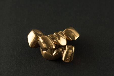 Stahl künstlich beschichtete Nitrid-Titan-Zahnkrone für die Zahnrestauration