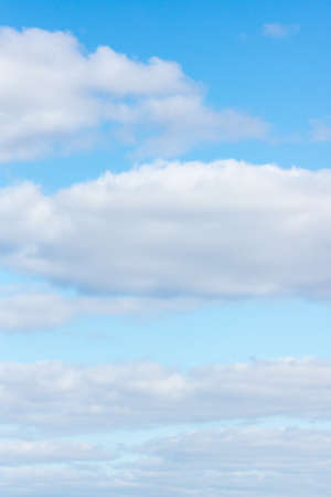 blue sky with flying white light clouds Stock Photo