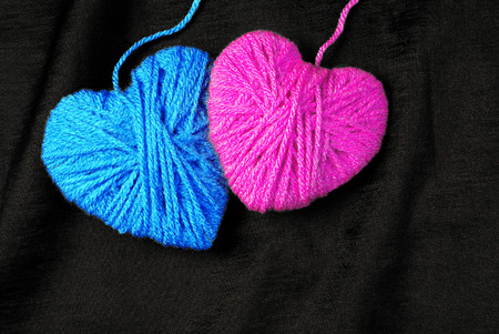 Two lovers heart. Connected by love. Valentine's Day.