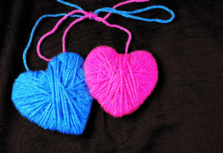 Two lovers heart. Connected by love. Valentines Day.