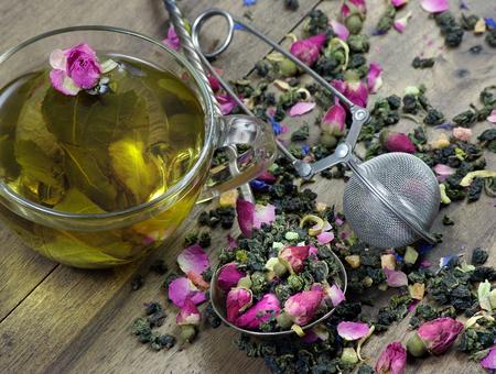 green tea. cup of tea blend tea