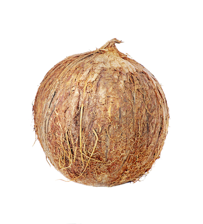 Tropical fruit coconut isolated on a white Reklamní fotografie - 123819380