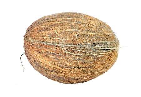 Tropical fruit coconut isolated on a white
