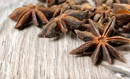 star anise, cinnamon, and roasted coffee beans. roasted coffee and spices Reklamní fotografie