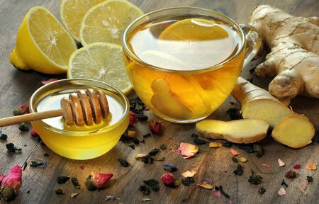 honey, lemon and a cup of tea. traditional cold remedies