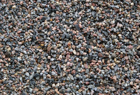 gravel texture background. top view