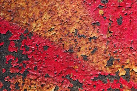 old rusty painted metal sheet close-up Фото со стока - 168240722