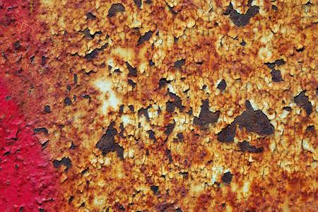 old rusty painted metal sheet close-up Фото со стока - 168240724