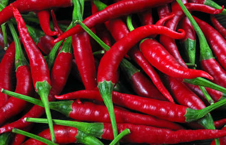 ripe red hot chili peppers texture