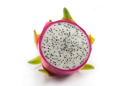 dragonfruit on  white background photo