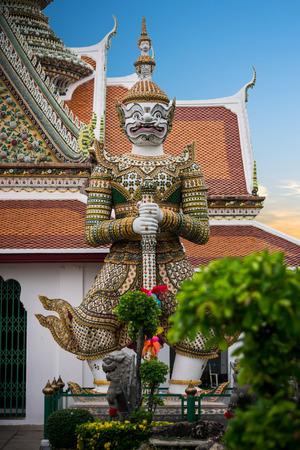 Measure giant in Arun temple of Bangkok, Thailand photo