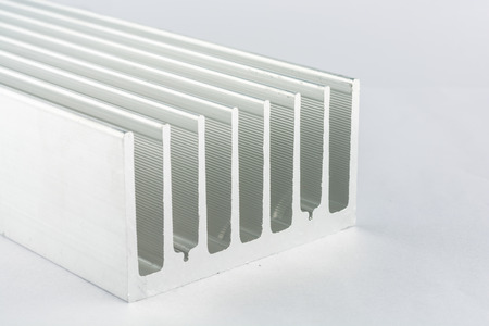 Aluminum cooling. On gray background