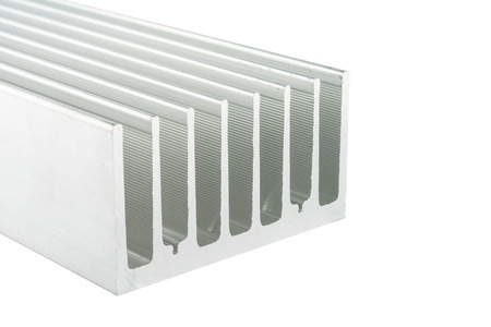 routed: Isolated Aluminum cooling. On white background