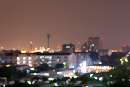 lighhts: Blured lighhts from Bangkok city, Thailand Stock Photo