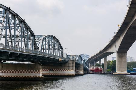 chao phraya: Rama III bridge across Chao Phraya river ,Bangkok,Thai land
