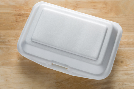 Styrofoam food container. Foam Box Cause cancer and have the substance styrene (Styrene) hidden.