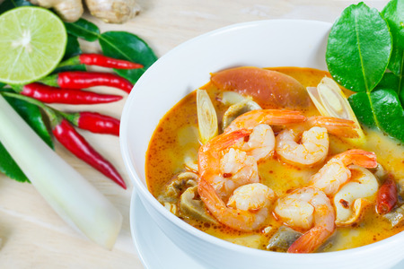 goong: Tom Yum Goong - Thai hot and spicy soup with shrimp - Thai Cuisine