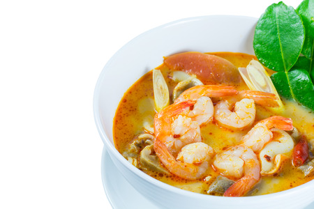gung: Tom Yum Goong - Thai hot and spicy soup with shrimp - Thai Cuisine