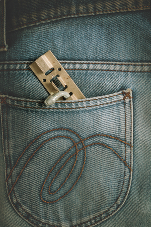 Latch, Hasp,vintage  old metal latch for the door in pocket jeans