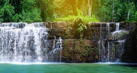 Sridit Water Fall on rainy season. Beautiful waterwall in nationalpark Khao koh ,Phetchabun, Thailand.