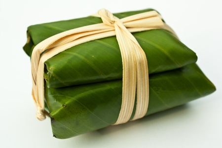 Banana leaf wrapping photo