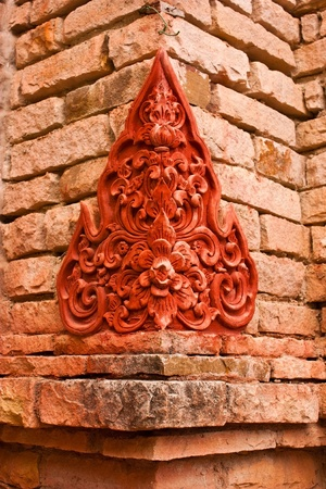 Thai stucco pattern. photo