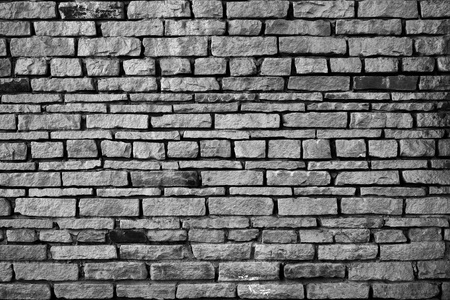 Black and white brick wall. Stock Photo - 9898997