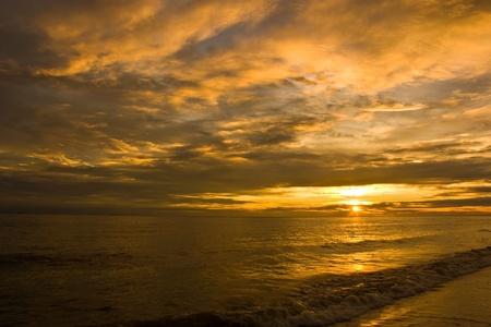 Sunset, sea photo