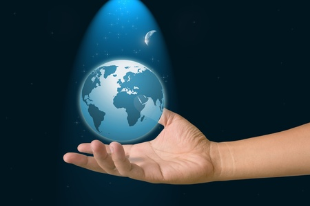 Hand to the world. photo