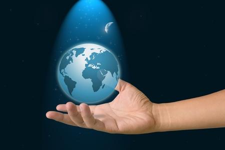 Hand to the world. photo