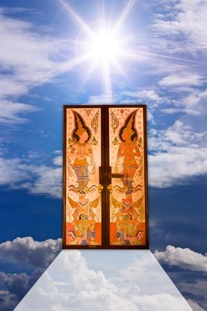 Thai door. photo