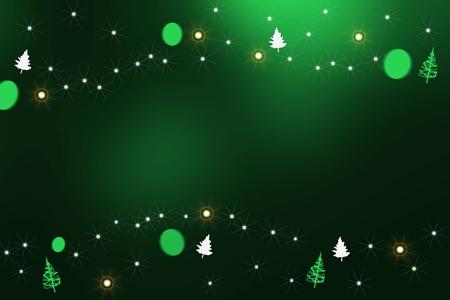 Stars, with pine trees. Stock Photo - 10997444