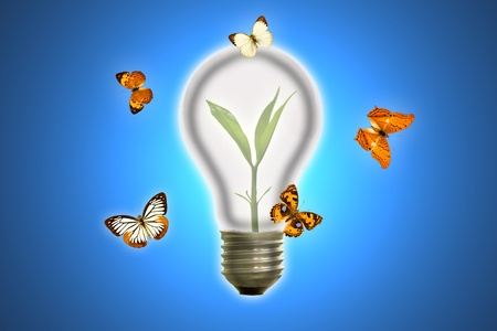 Butterfly lamp. Stock Photo - 10997501