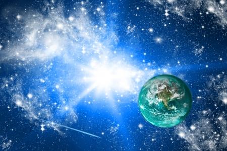 Terre et les étoiles.