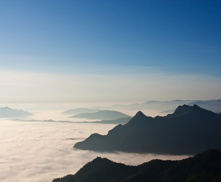 Mist and mountains. photo