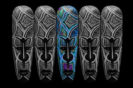 Wooden mask. Reklamní fotografie