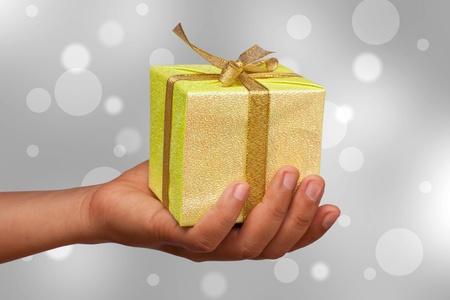 Hand gift. photo
