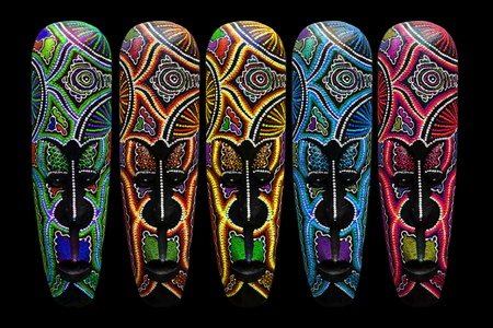 Wooden mask. 免版税图像