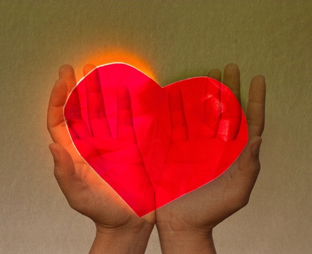 Hands and heart. photo