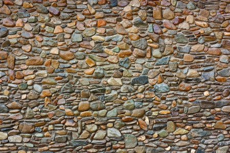 red pebble: Stone walls