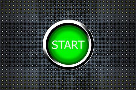 A red push button to start a modern sport car photo