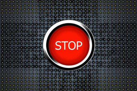 stop Button isolated Stock Photo - 13278301