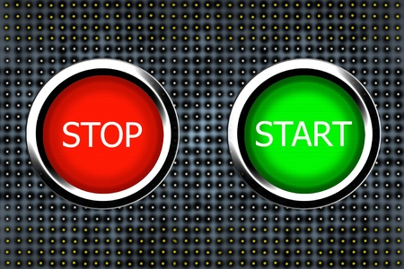 stop and start buttons photo