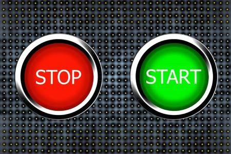 stop and start buttons 免版税图像