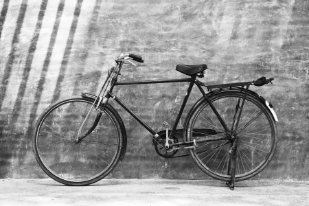 Bike and wall.